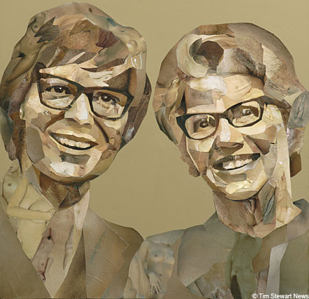 Porn to do art: Jonathan Yeo's images of Cliff Richard and Mary Whitehouse are made from porn mag cuttings