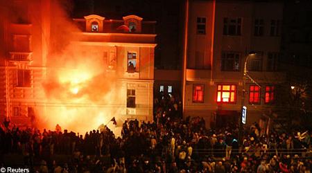 US embassy fire