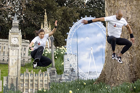 Free runners Hyde Park
