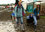 Glastonbury festival mud