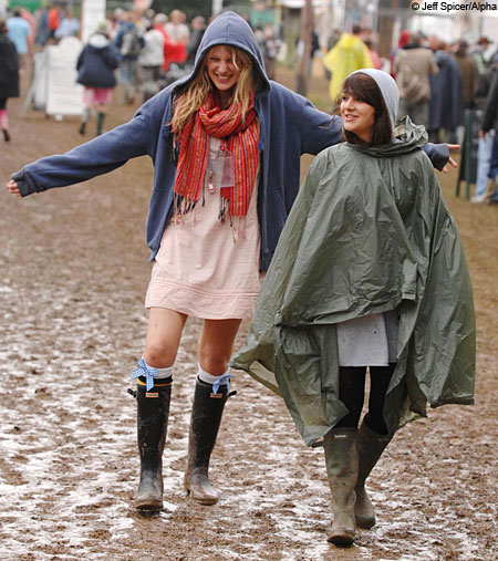 Glastonbury is set to be another wet and wild one