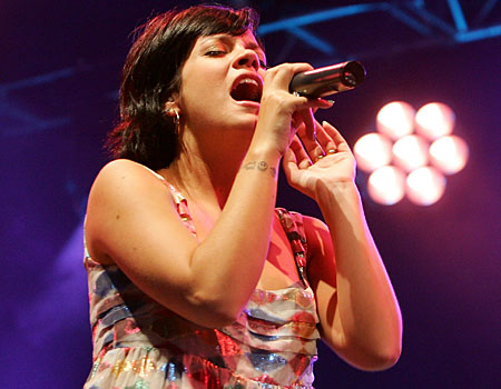 Lily Allen performs at the Radio 1 Big Weekend in Swindon