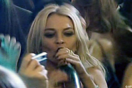Lohan drinking