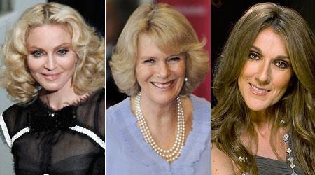Madonna, Camilla, Celine