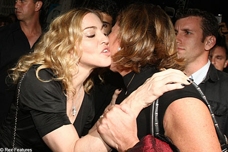 Madonna says a warm farewell to the Israeli leader
