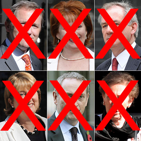 James Purnell, Hazel Blears, Geoff Hoon, Jacqui Smith, John Hutton and Margaret Beckett have all resigned