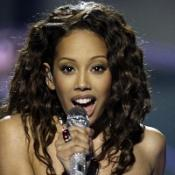 Jade Ewen performs at the Eurovision Song Contest in Moscow