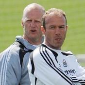 Iain Dowie (left) and Alan Shearer (right)