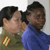 Samantha Orobator has been jailed for life on drug-smuggling charges in Laos
