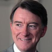 Business Secretary Lord Mandelson is giving a speech on climate change