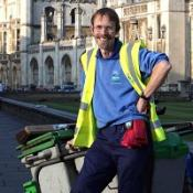 Road sweeper Allan Brigham, from Cambridge, has a degree from Sheffield University