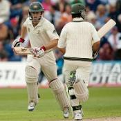 Simon Katich (left) and Ricky Ponting