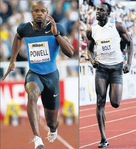 Asafa Powell & Usain Bolt