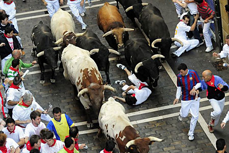 Deaths are surpisingly uncommon in Pamplona as seen last year