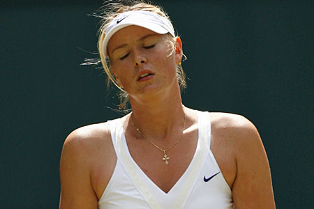 Down and out: Former champ Sharapova is out at the second round stage