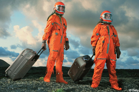 Space luggage future travel