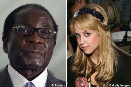 Robert Mugabe and Peaches Geldof