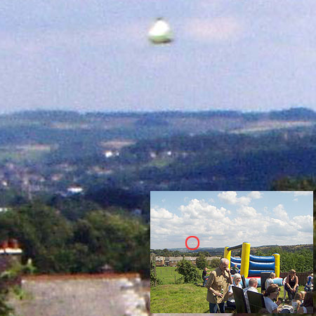 Sizzling snap: The mysterious object was not spotted at the barbecue until Sue Sill checked her pictures later that day