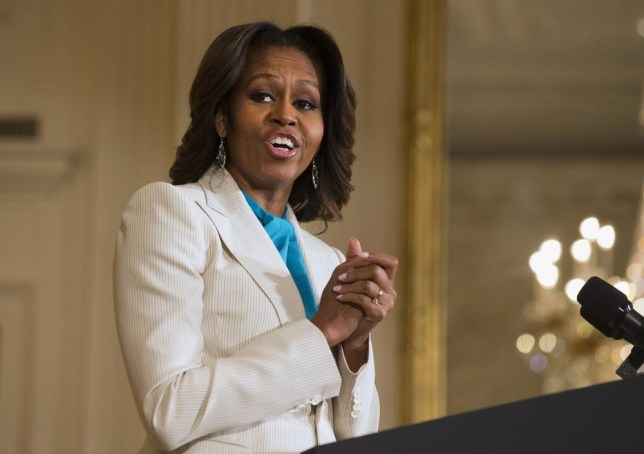 US first lady Michelle Obama has been identified as a warm and strong character who influences others (Picture: AP)