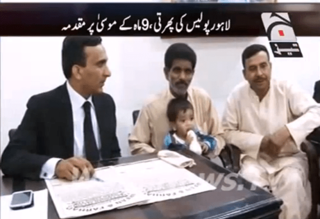 Muhammad Mosa Khan: 9 month old in court in lahore pakistan murder
