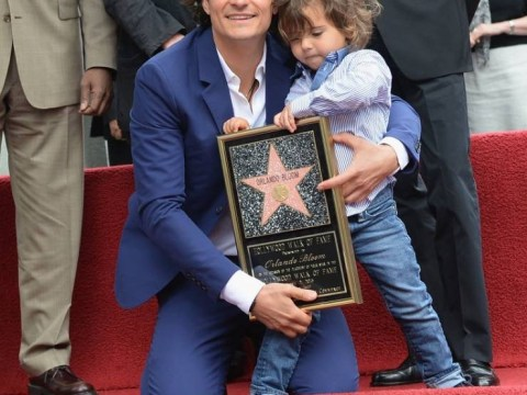 How Orlando Bloom's son Flynn totally stole the show as daddy received a star on the Hollywood Walk Of Fame