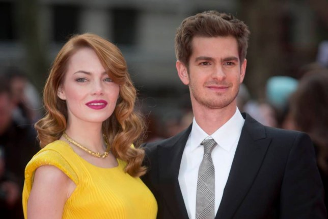 Emma Stone and Andrew Garfield at The Amazing Spider-Man 2