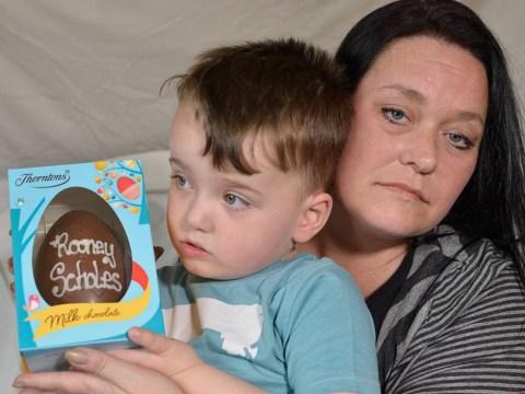Boy named after Wayne Rooney, 3, refused name on Easter egg due to 'copyright infringement'