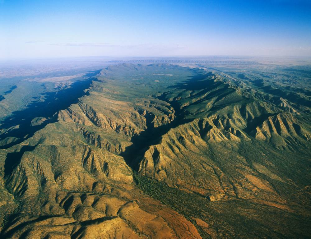 Aerial view of Wilpena Pound in the Flinders Ranges (Picture:Supplied)