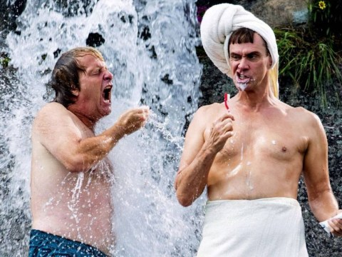 Harry and Lloyd take a shower in new Dumb and Dumber To image