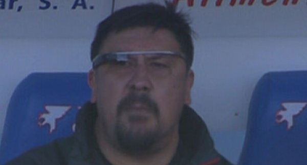Muno Burgos tracked his team through Google Glass (Picture: Sky Sports)
