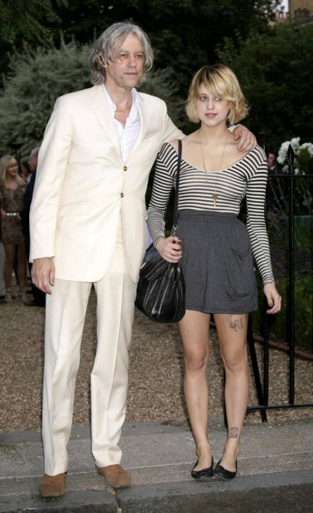 Sir Bob Geldof and his daughter Peaches Geldof leave Sir David Frost's Summer Garden Party in Carlyle Square, Chelsea.   PRESS ASSOCIATION Photo. Picture date: Thursday July 2, 2009. Photo credit should read: Yui Mok/PA Wire