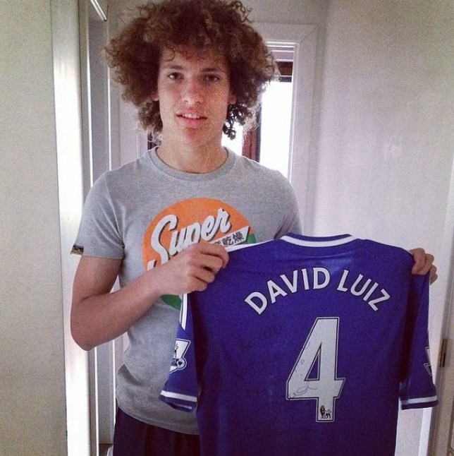 Wout Faes got a birthday present from David Luiz (Picture: Instagram)
