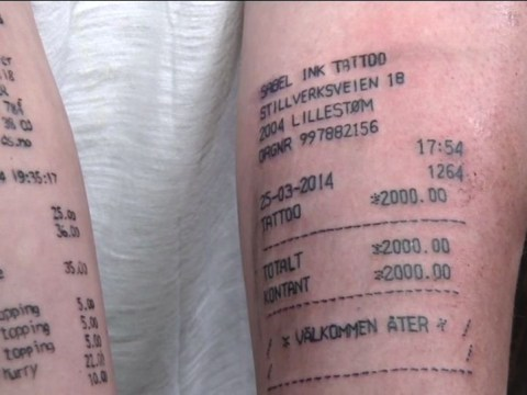 Teenager who got McDonald's receipt inked on his arm gets another tattoo that's just as silly