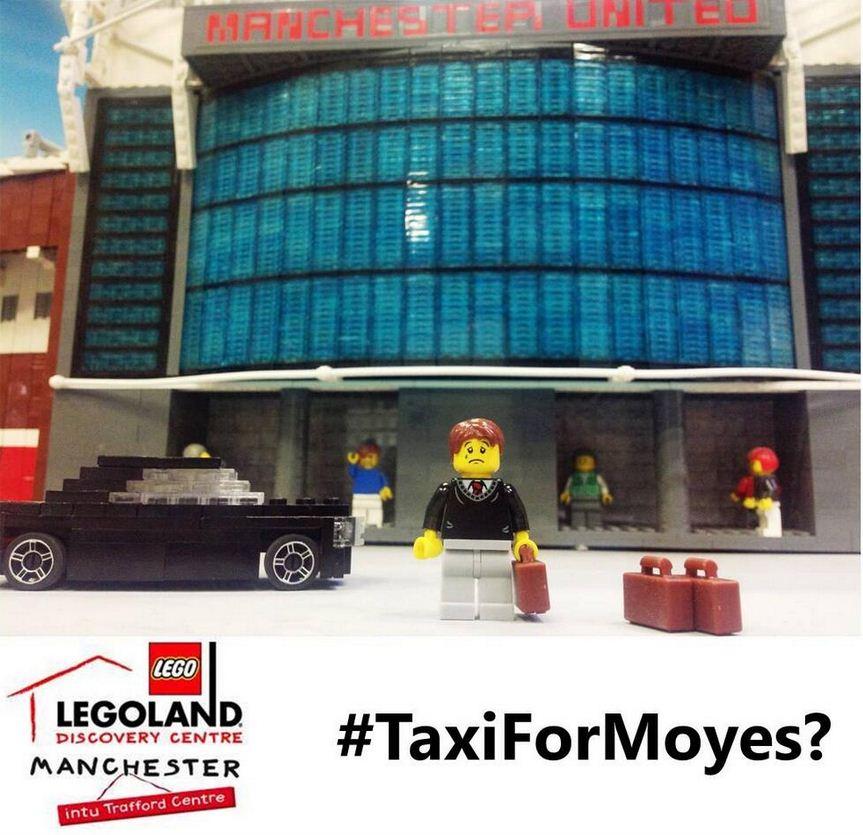 Lego jumped on the Moyes bashing bandwagon (Picture: Twitter/LDCManchester)
