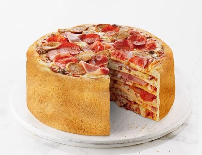 pizza cake Boston Pizza
