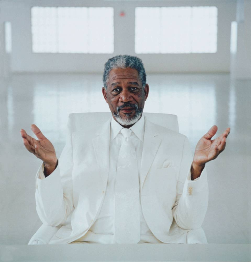 Who He? Morgan Freeman is perfectly suited to the role of God (Picture: Alamy)