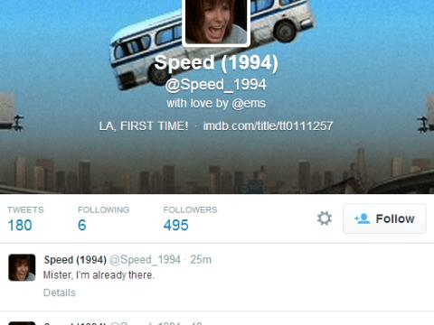 Speed fan tweets entire film script but is in no rush