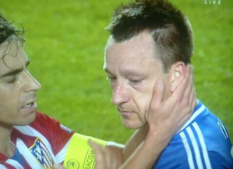 John Terry trolled on Twitter for crying after Chelsea's Europe exit
