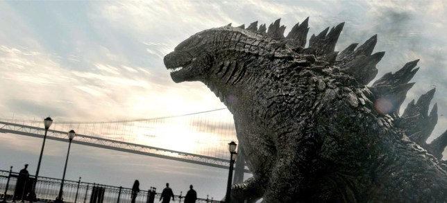 "This film image released by Warner Bros. Pictures shows a scene from ""Godzilla."" (AP Photo/Warner Bros. Pictures) AP Photo/Warner Bros. Pictures"