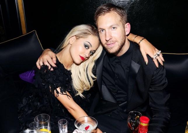 LONDON, ENGLAND - FEBRUARY 19: Rita Ora and Calvin Harris attend the Three Six Zero and Nokia MixRadio Party at Hakkasan on February 19, 2014 in London, England. David M. Benett/Getty Images for Three Six Zero-Nokia MixRadio