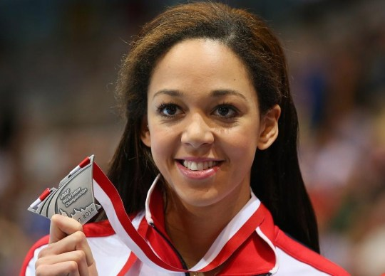 Katarina Johnson-Thompson with her silver medal from Sopot (Picture: Getty Images)