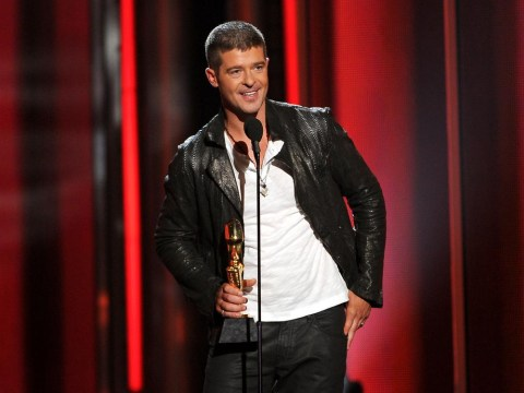 Robin Thicke 'too blurred' to write his number one song, court hears