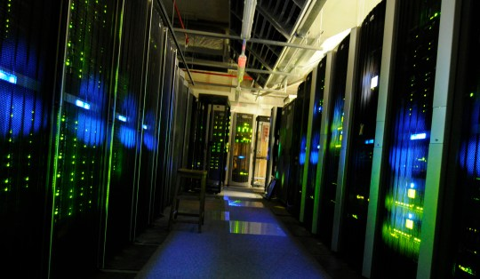 The server room at the National Archives in London (Picture: The National Archives)