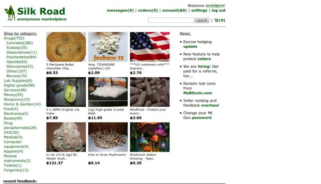Black market: users can buy drugs and weapons anonymously on the site (Picture: ?)