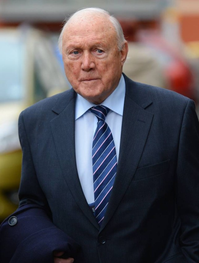 Accused: Former broadcaster Stuart Hall arrives at court (Picture: Getty)