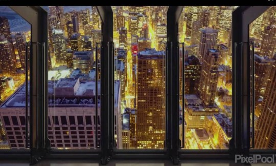 TILT: the observation deck lets visitors look down at the city as well as out (Picture: 360 Chicago/Pixelpool)