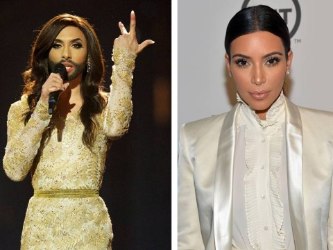 Eurovision Song Contest 2014: Anyone else think Austria's bearded lady Conchita Wurst looks like Kim Kardashian?