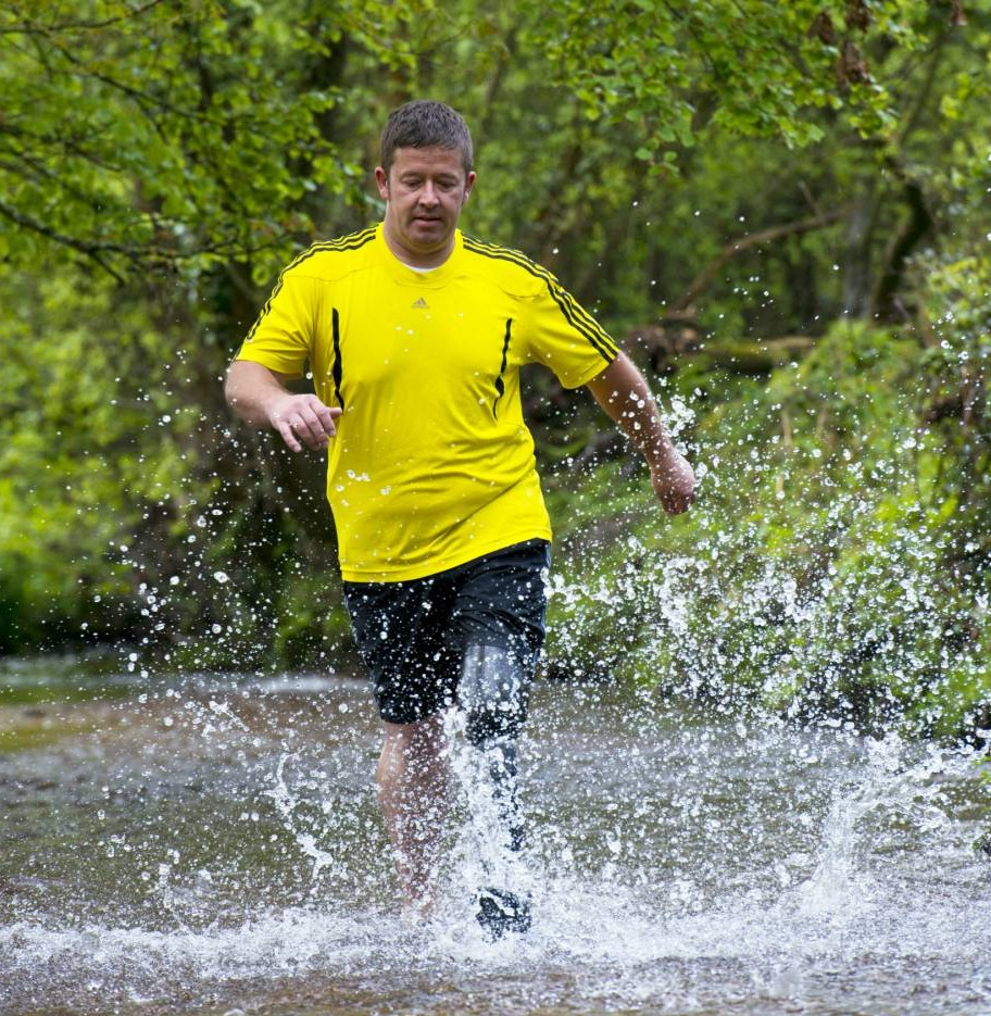 Leg's get wet! Darren's bionic limb is the first to be totally waterproof