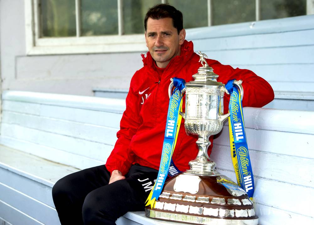 15/05/14 ST ANDREWS SPORTS CENTRE - ST ANDREWS Dundee Utd manager Jackie McNamara looks ahead to the upcoming William Hill Scottish Cup Final.
