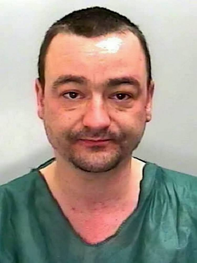 James Atkinson. See SWNS story SWSTAB; A frail man who was repeatedly stabbed leaving his intestines protruding from his stomach today said he was ìlucky to be aliveî after his attacker was jailed for 14 years. James Atkinson, aged 40 will not be released until he is deemed to be no longer a danger to the public after stabbing Geoffrey Franklin. A judge told Atkinson he was still a risk almost three years after he stabbed the 64-year-old with a carving knife. Judge Paul Darlow said he stabbed him seven or eight times to the abdomen, chest and back.